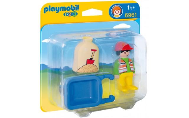 Playmobil 6961 Строитель с тачкой - фигурка Плеймобил