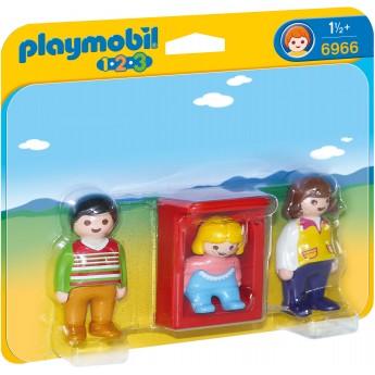 Playmobil 6966 Родители с младенцем в колыбели - фигурки Плеймобил