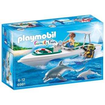 Playmobil 6981 Моторная лодка с дайвером - игрушка Плеймобил