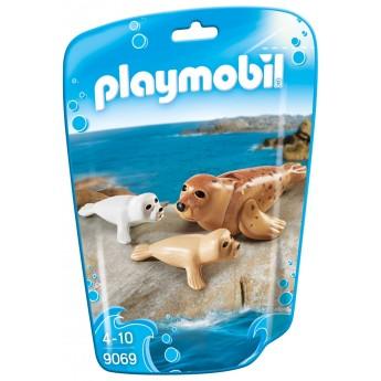 Playmobil 9069 Тюлень с детёнышами - фигурки Плеймобил