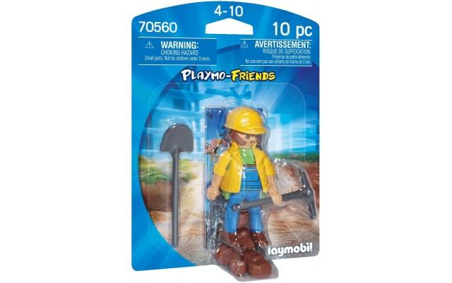 Фигурка Playmobil Строитель с лопатой (70560)