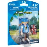 Фигурка Playmobil Мальчик с игрушечным автомобилем (70561)