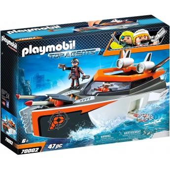 Набор Playmobil Шпионская моторная лодка (70002)