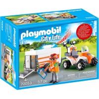 Машинка Playmobil Квадроцикл МЧС с прицепом (70053)