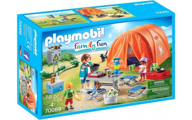 Набор фигурок Playmobil Семейный кемпинг c аксессуарами (70089)