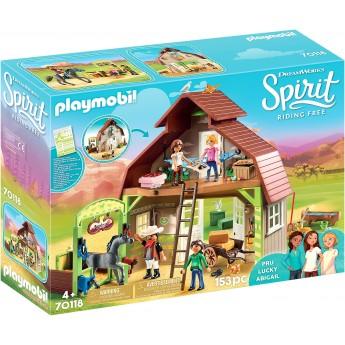 Набор Playmobil Конюшня с фигурками Барн с Лаки, Пру и Эбигейл (70118)