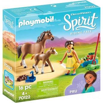 Набор фигурок Playmobil Пру с лошадью и жеребёнком (70122)