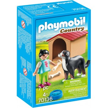 Набор фигурок Playmobil Девушка и собака с будкой (70136)