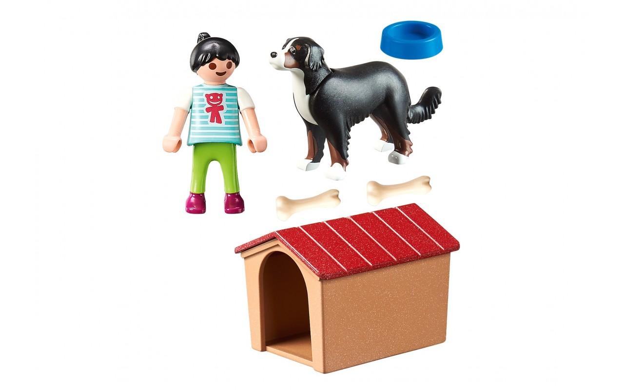 Playmobil 70136 - Набор фигурок Девушка и собака с будкой ...