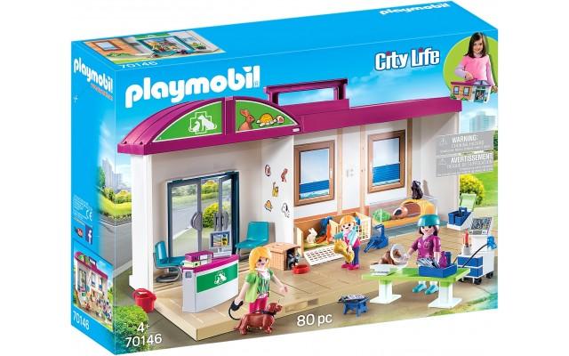 Набор Playmobil Переносная ветеринарная клиника (70146)