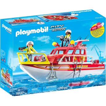Игрушка Playmobil Катер спасателей (70147)