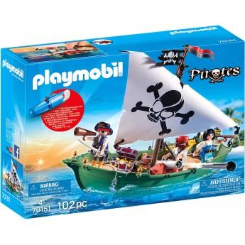 Набір Playmobil Піратський корабель з мотором (70151)