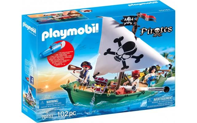 Набор Playmobil Пиратский корабль с мотором (70151)