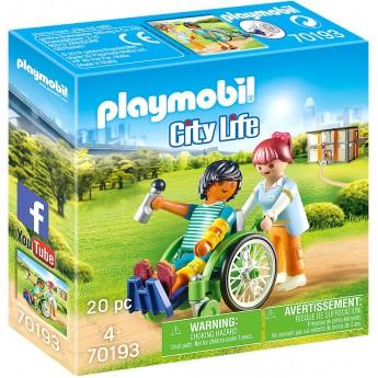 Набор фигурок Playmobil Пациент в инвалидном кресле (70193)