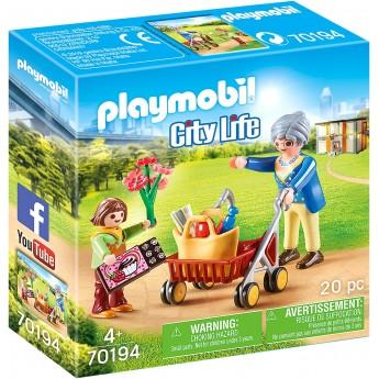 Набор фигурок Playmobil Бабушка со внуком (70194)
