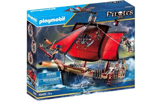 Конструктор Playmobil Піратський корабель з черепом (70411)