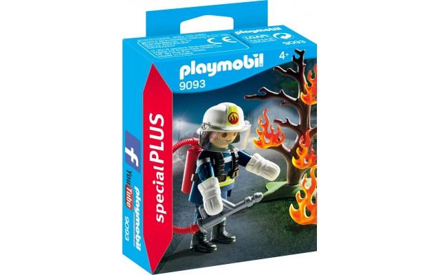 Фигурка Playmobil Пожарник c горящим деревом (9093)