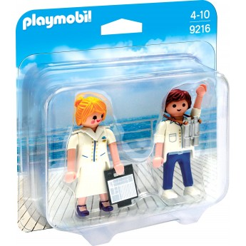 Набор фигурок Playmobil Капитан круизного корабля и стюардесса (9216)