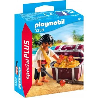 Набор фигурок Playmobil Пират с сундуком сокровищ (9358)