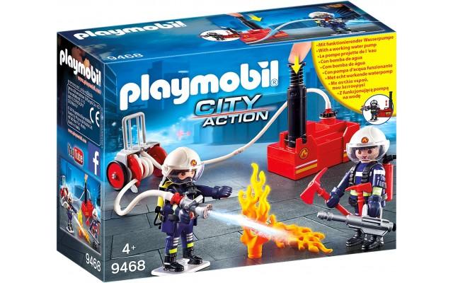 Набор фигурок Playmobil Пожарные с водяным насосом (9468)