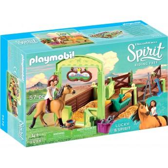 Набор Playmobil Лошадиный загон Лаки и Спирит (9478)