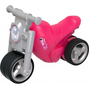 Толокар BIG мотоцикл Дівочий стиль з захисними насадками рожевий (56362)