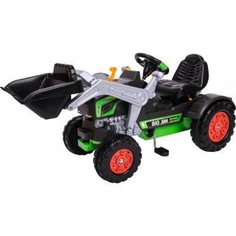 Трактор-навантажувач педальний BIG Джим Турбо зі звуковими ефектами зелений (56513)