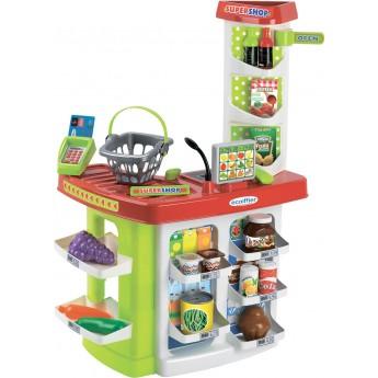 Детский набор Ecoiffier Продуктовый супермаркет Chef с кассой, корзинами и продуктами (001784)