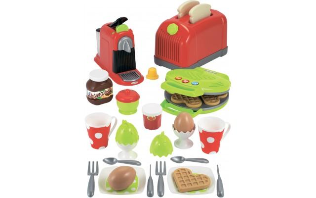 Игрушечная Кухонная техника Ecoiffier с посудой продуктами и 33 аксессуарами (002647)