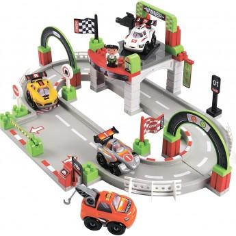 Конструктор Ecoiffier Трек Гран При с 4 машинами и 1 героем (003006)