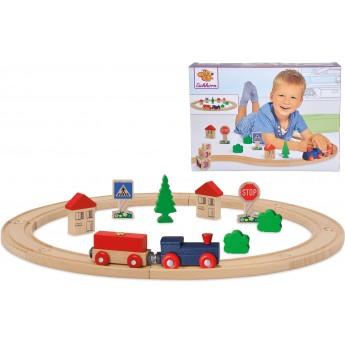 Игровой набор из дерева Eichhorn Железная дорога (100001260)