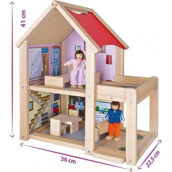 Дом для кукол деревянный Eichhorn Двухэтажный (100002501)