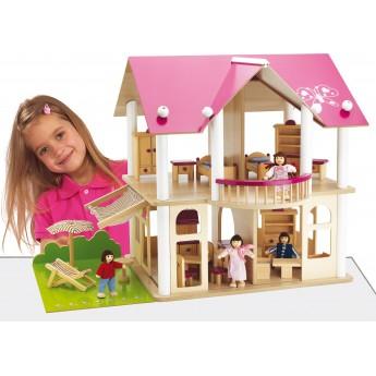 Кукольный домик деревянный Eichhorn Розовая мечта (100002513)