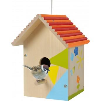 Скворечник для птиц Eichhorn деревянный с набором красок (100004581)