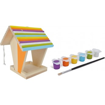 Кормушка для птиц Eichhorn деревянная с набором красок (100004582)