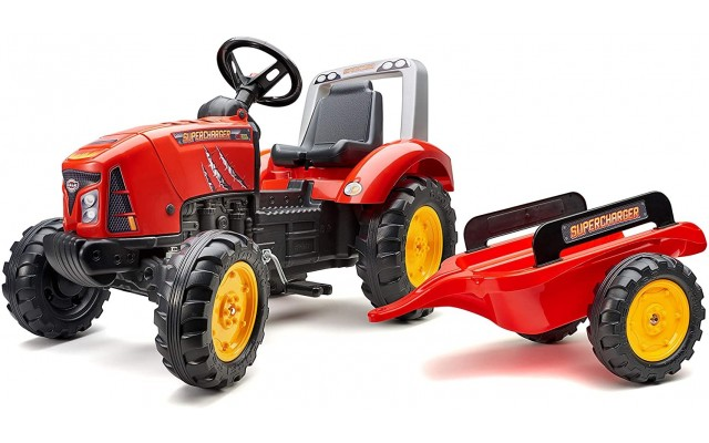Трактор на педалях Falk 2020AB SuperCharger с прицепом