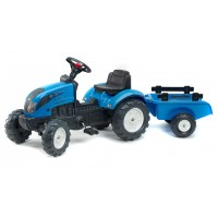 Трактор на педалях Falk 2050C Landini Powermondial з причіпом