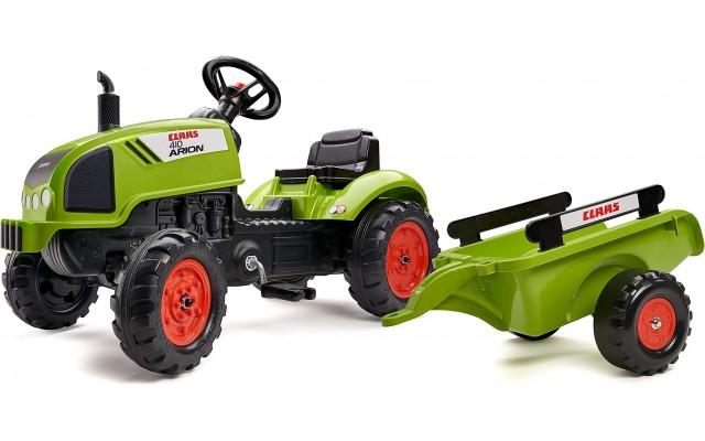 Трактор на педалях Falk 2041C Claas Arion 410 з причіпом
