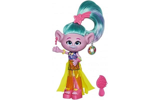 Лялька Hasbro Trolls S2 Делюкс Гламурна Сатинка,15 см (E6569/E6820)