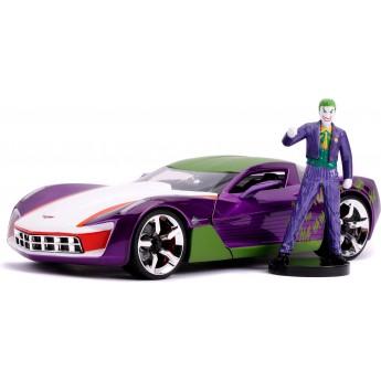 Машинка металлическая Jada Chevrolet Corvette Stingray Концепт с фигуркой Джокер (253255020)