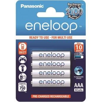 Аккумуляторы Panasonic Eneloop ААА 750 мАч Ni-MH 4 шт. (BK-4MCCE/4BE)