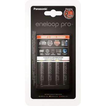 Зарядное устройство Panasonic Smart-Quick Charger c аккумуляторами Eneloop Pro АА 2500 (K-KJ55HCD40E)
