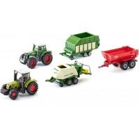 Набор Siku Коллекционные модельки агротехники: трактора Fendt и Claas c прицепами (6286)