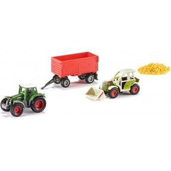 Набор Siku Масштабные модельки агротехники: трактор Fendt с прицепом и погрузчик Claas (6304)