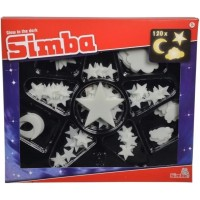 Набор сияющих элементов Simba Светящиеся звезды флуоресцентные, 120 шт. (7822344)