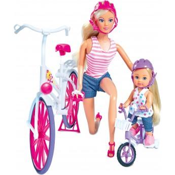 Кукольный набор Simba Штеффи и Эви Прогулка на велосипедах (5733045)