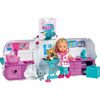 Кукла Simba Доктор Эви Мобильная ветклиника, 42 аксессуары (5733488)