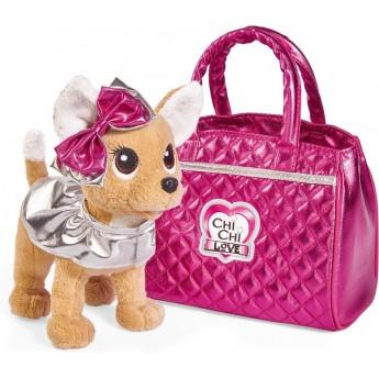 Собачка Chi Chi Love Чихуахуа Фэшн Модный гламур с накидкой, бантом и сумочкой 20 см Simba (5893125)