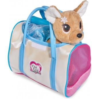 Мягкая игрушка Собачка Chi Chi Love Чихуахуа Фэшн Зимний стиль с сумочкой 20 см Simba (5893127)