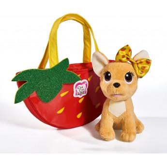 Игрушка собачка Chi Chi Love Чихуахуа Фэшн Фруктовая мода Клубника с сумочкой Simba 18 см (5893156)
